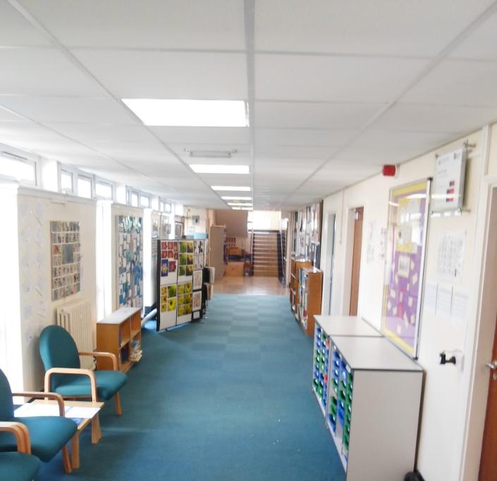 Pendlebury Centre internal shot of a corridor