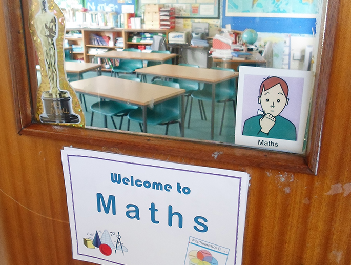 Welcome to Maths sign