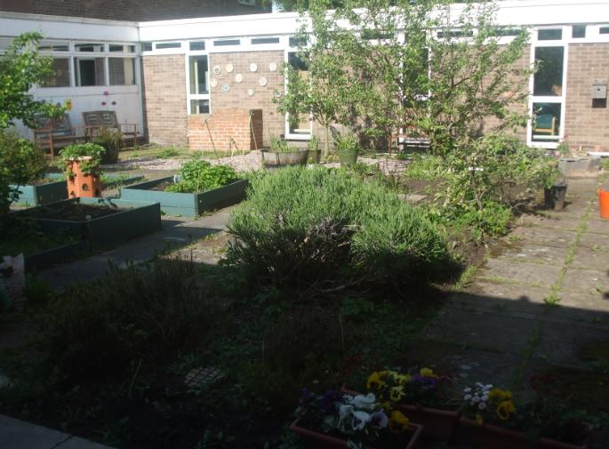Internal patio and garden area