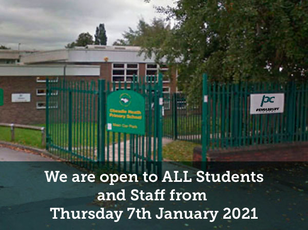 Pendlebury Centre - we are open from thursday 7th January 2021